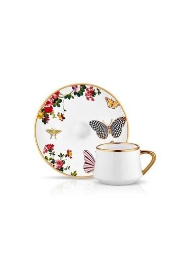 Koleksiyon Sufi Mariposa 6Lı Kahve Seti Renkli